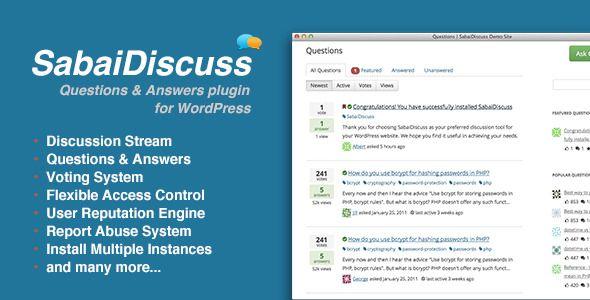 6 лучших плагинов wordpress для вопросов и ответов Клуб WordPress 2994 sabaidiscuss-jpg.2817