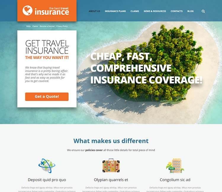 9 лучших тем wordpress для страховых компаний Клуб WordPress 2951 travel-insurance-jpg.2707