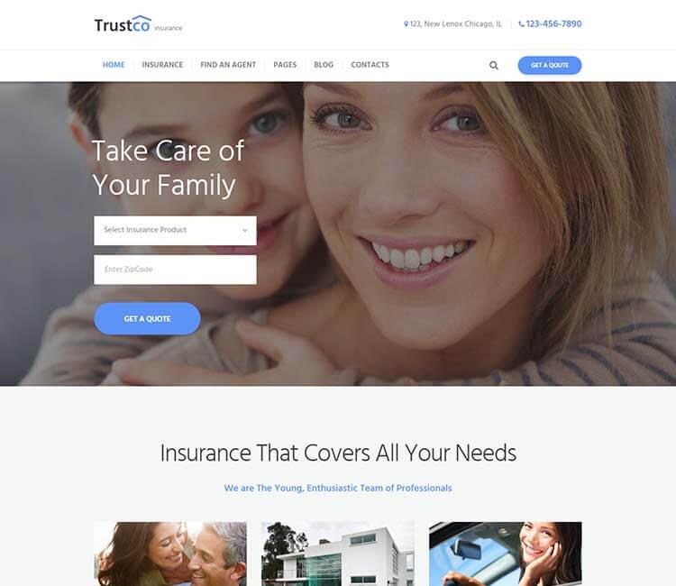 9 лучших тем wordpress для страховых компаний Клуб WordPress 2951 trustco-jpg.2704