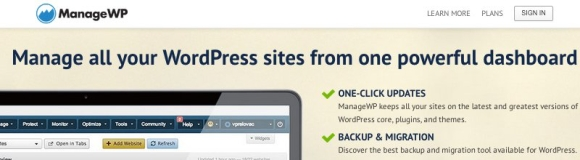 ManageWP осуществляет процесс восстановления в один клик с панели администратора