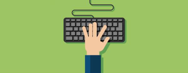 картинка руки на клавиатуре