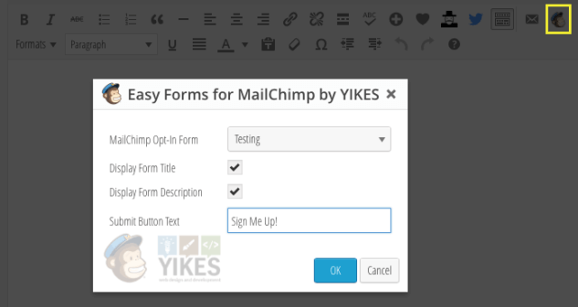 Значок Easy Forms для плагина Easy Forms for MailChimp