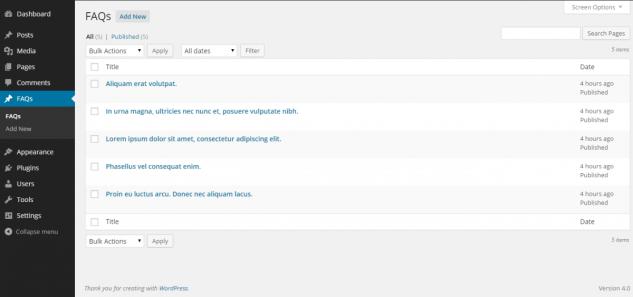 Создание FAQ страницы с помощью двух циклов