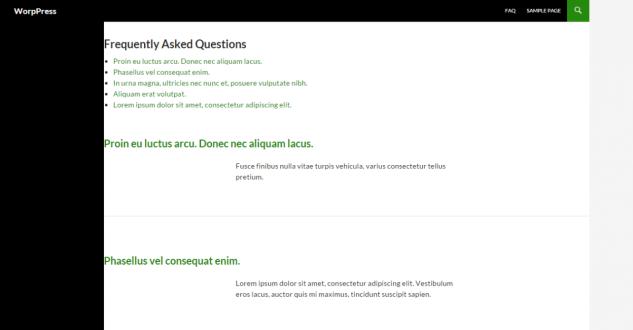 Как создать FAQ страницы для WordPress