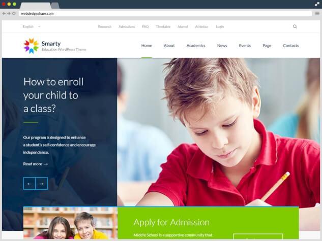 Обучающие темы WordPress для управления процессом образования